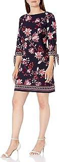 فستان حريمي من Sandra Darren قطعة واحدة 3/4 كم مطبوع عليه زهور Ity Puff Shift