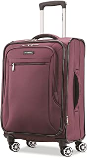 Samsonite Ascella X Softside Expandable Luggage with Spinner Wheels, Plum, Carry-On 20-Inch