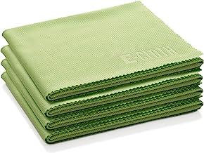 E-Cloth Glass & Polishing Microfiber Cleaning Cloth, 4 Pack, Lime Green
