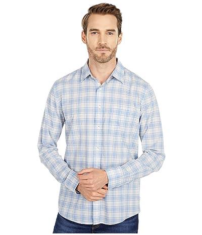 Faherty Everyday Shirt (Blue/Coral/Grey) Men