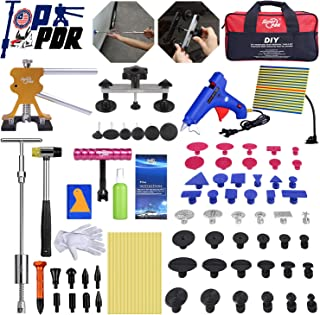 Fly5D Complete Paintless Auto Dent Removal Tools Set, Repair of Dents with Different Aluminum Dent Pull Tabs Can Be Reused Countless Times Dent Puller Kit for Anybody�