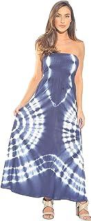 Riviera Sol Vestido De Tubo Maxi sin Tirantes/Verano Vestidos
