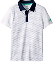 Micro Dot Print Polo (Big Kids)