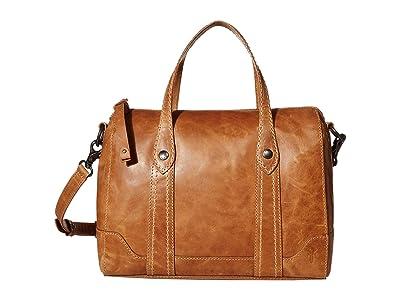 Frye Melissa Double Handle Satchel (Beige) Handbags
