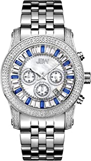 JBW Luxury Men's Krypton 20 Diamonds Baguette Crystals Dial Watch