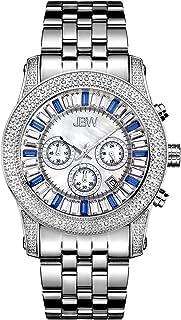 ساعة فاخرة كريبتون بتصميم باجيت مع 20 الماسة ومينا كريستالي للرجال من جيه بي دبليو