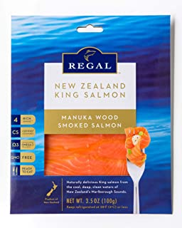 Regal Manuka Smoked Salmon - 3 Pack (3.5 Oz Packs) - Smoked Salmon - Raised in New Zealand - Non-GMO, Kosher, BSE-Free - Superfood with Healthy Omega 3 Acids