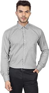 MANQ Men's Formal Self Print Regular Fit Shirt