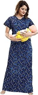 TUCUTE Women's Beautiful Print with Invisible Zip Feeding/Maternity/Nursing Nighty/Nightwear.