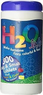 Color My Bath H2O La La Color Changing Bath Tablets, 300-Piece