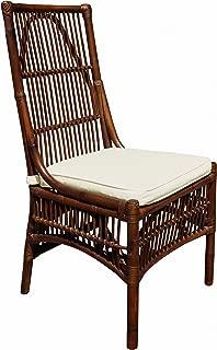 Panama Jack Sunrooms PJS-2001-ATQ-SC Bora Bora Side Chair with Cushion, Sunbrella Dimone Sequoia