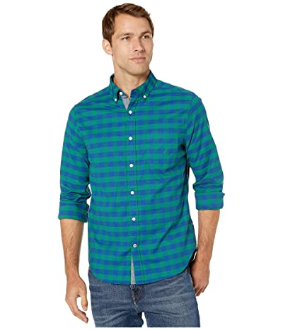 Nautica Casual Oxford Plaid Woven (Spruce) Men