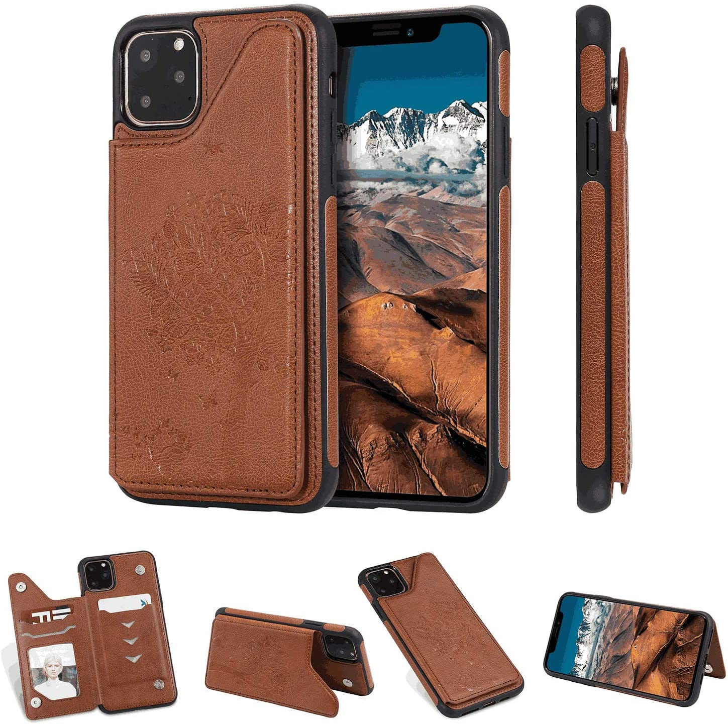 PU Leather Case Compatible with Samsung Galaxy S8 Cell Phone Business-Design Flip Cover for Samsung Galaxy S8