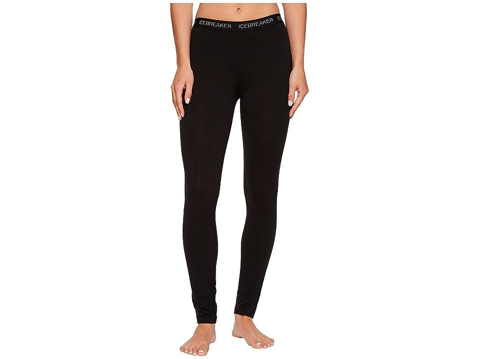 Icebreaker Oasis Mid-Weight Merino Legging (Black) Women