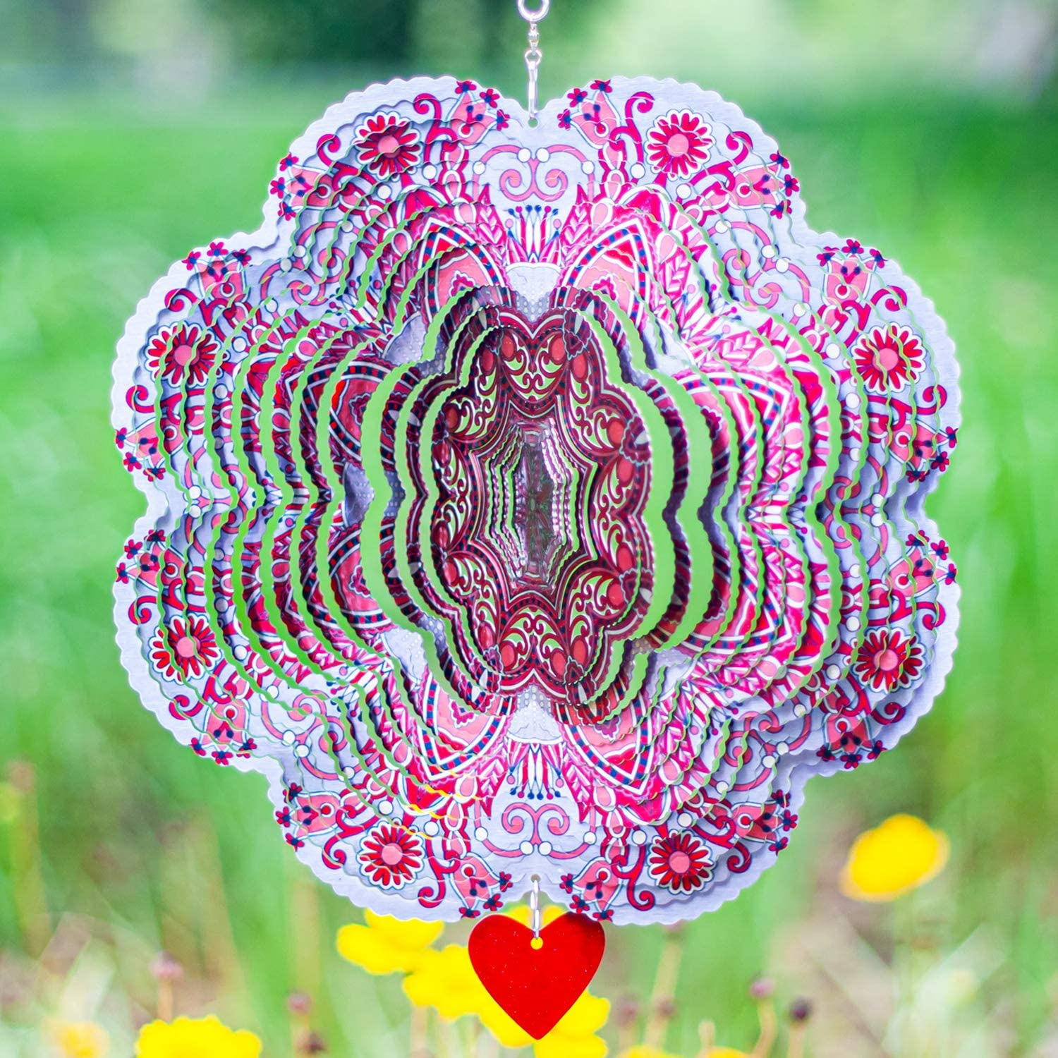 SteadyDoggie Wind Spinner Arlington Mall Mandala Hibiscus – 3D 12 S Sale Special Price inches