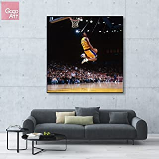 GoGoArt ROLL Canvas print wall art panorama photo big picture poster modern (no framed no stretched not oil painting) nba Kobe Bryant mvp lakers Black Mamba 24 dunk sport A-0085-1 (36 x 36 inch)