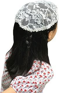 Flowergirl Bridal Lace Cap Bonnie Headscarf F4