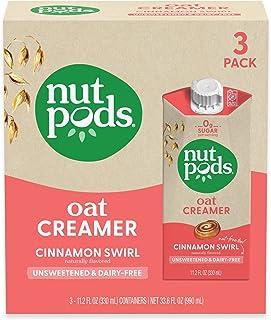 nutpods Oat Cinnamon Swirl, (3-Pack), Unsweetened Dairy-Free Creamer, Nut-Free Creamer, Made from Oats, Gluten Free, Non-G...