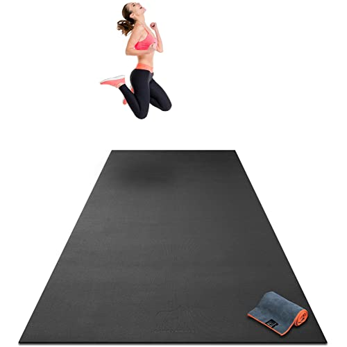 Stretching Cardio Workout Mats for Home Gym Flooring 9 x 6 x 8mm Extra Thick /& Comfortable Non-Slip Premium Extra Large Yoga Mat Non-Toxic Barefoot Exercise Mat 274cm Long x 183cm Wide Yoga