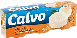 Calvo - Atún Claro Escabeche, Pack 3 x 80 g