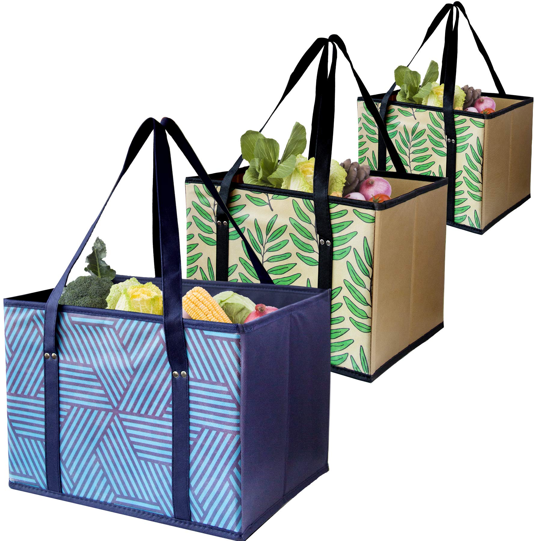 Reusable Shopping Eco Friendly Foldable Reinforced