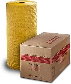 ESP 1AMYRL Airmatrix Polypropylene Heavy Weight Chemical Hazmat Absorbent Laminated Roll, 150' Length x 28 Width, Yellow