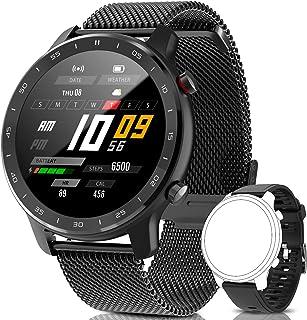 IYAQILEHE Smartwatch, Reloj Inteligente IP67 Pantalla Táctil Completa Pulsómetro Presión Arterial Monitor de Sueño 8 Modos...