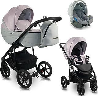 3 en 1 Isofix 2 en 1 Buggy Ideal 2020 de Lux4Kids Foggy Rose ID 06 Silla de auto 4 en 1 + ISOFIX