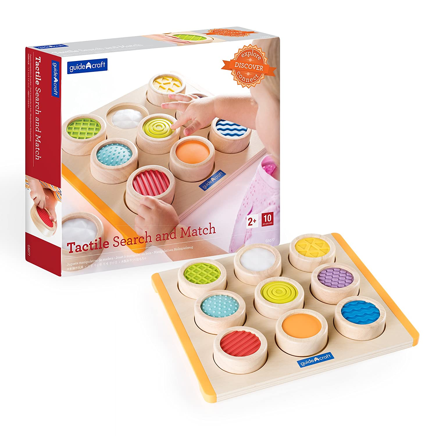 Guidecraft Colorful Long-awaited Tactile Search A surprise price is realized and - Soft Textures Match Sen