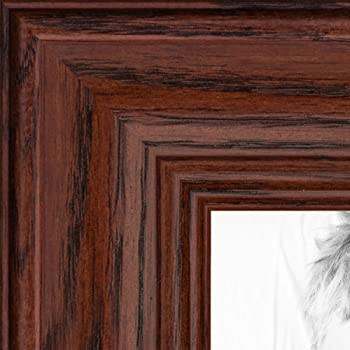 2WOMN9590-13x23 Art to Frames ArtToFrames 13x23 inch Mahogany and Burgundy With Beaded Lip Picture Frame