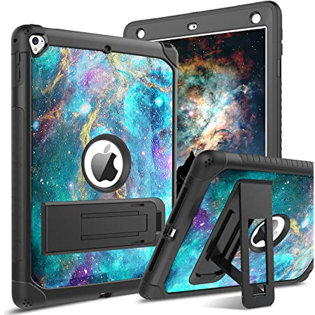 BENTOBEN iPad Air 2 Case, iPad 6th/5th Generation Case, iPad 9.7 2018/2017 Case, iPad Pro 9.7 Case, Glow in The Dark 3 in 1 Shockproof Kickstand Protective Girls Women Boys Men Tablet Cover, Nebula