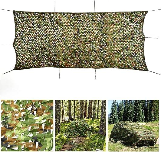 Auvent Camping Car,Camouflage dans la jungle 2x3m, Filet Camouflage Armée Filet D'ombrage Réseau Sun Woodland Tentes de Camping Couvrent Décoration Intimité Tonnelle ( Taille   88M(26.226.2ft) )