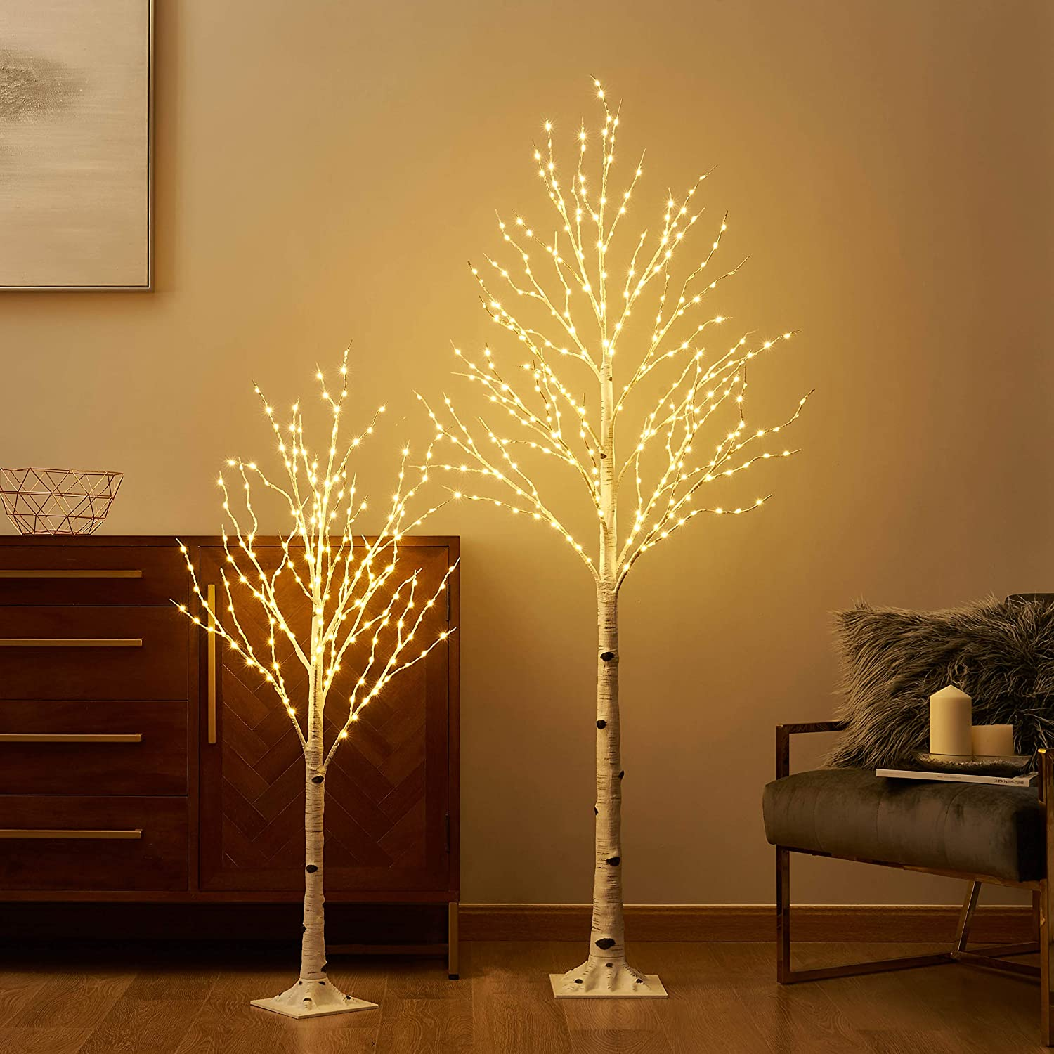 LITBLOOM Lighted Birch Twig Tree New sales Max 54% OFF with 6F Fairy 200LED Lights 4FT