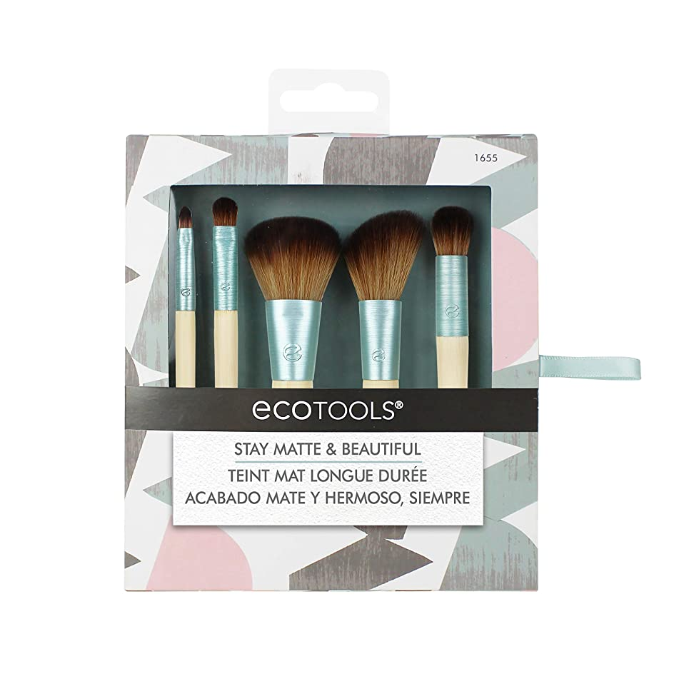 EcoTools-Cruelty Free Stay Matte & Beautiful Kit-Complexion Blending, Full Concealer, Angled Blush, Accent Shadow, Detailed Lip