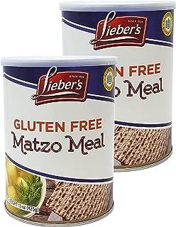 Lieber's Matzo Meal, Gluten Free, 15 Ounce Canister (2-Pack)