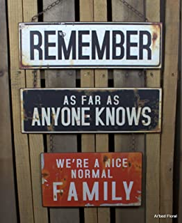 Upper Deck American Mercantile Normal Family Metal Sign