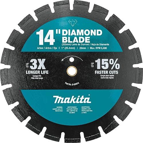 "discount Makita B-69674 14"" lowest Diamond Blade, Segmented, Dual 2021 Purpose online sale"