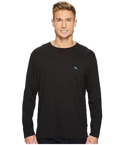 Tommy Bahama New Bali Skyline Long Sleeve T-Shirt (Black) Men
