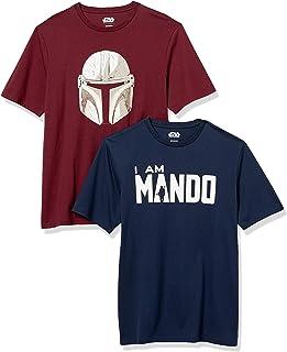 Men's Disney Star Wars Marvel Regular-Fit Crew-Neck T-Shirts