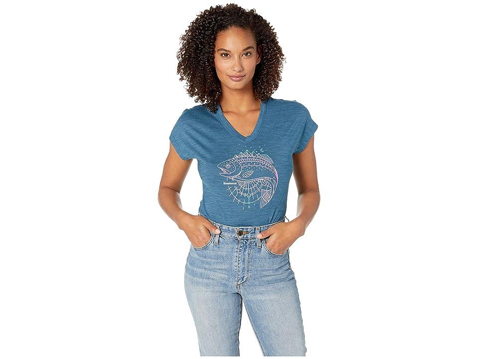 Smartwool Merino Sport 150 Midnight Trout Tee (Marlin Blue Heather) Women