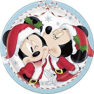 Disney Mickey & Minnie Christmas Paper Dessert Plates - 10 per pkg
