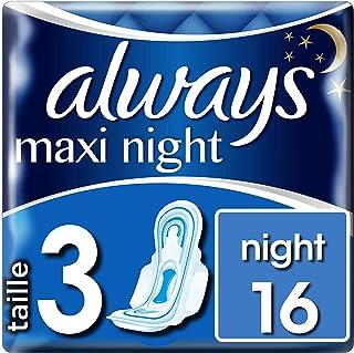 Always Maxi Night T3 Serviettes Hygiéniques 16 Pochettes Individuelles