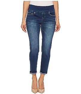 Petite Amelia Slim Ankle Pull-On Denim Jeans in Kodiak Blue