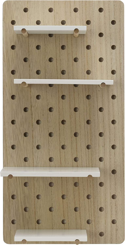 Melannco MDF Shelf New products world's highest quality popular White Pegboard Very popular 20x10-Inch