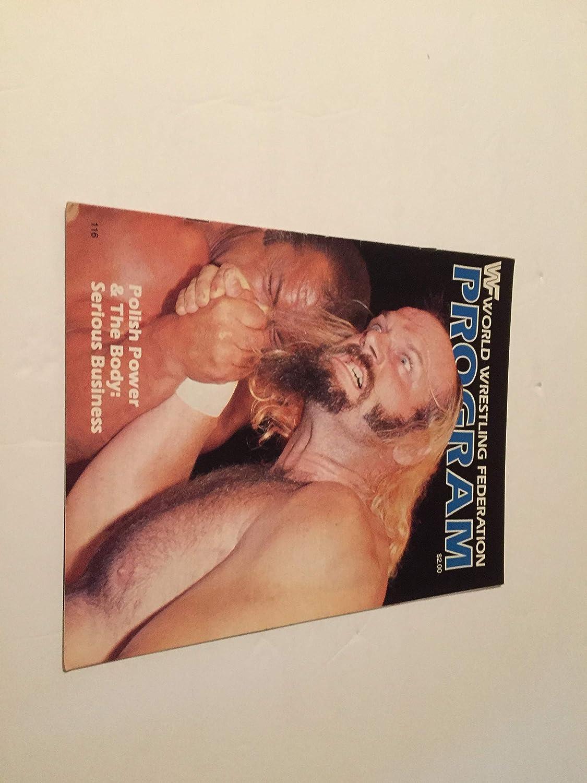 1984 World Kansas City Mall Wrestling Federation Program Power Polish Cover Max 48% OFF