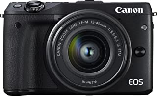 Canon ミラーレス一眼カメラ EOS M3 レンズキット(ブラック) EF-M15-45mm F3.5-6.3 IS STM 付属 EOSM3BK-1545ISSTMLK