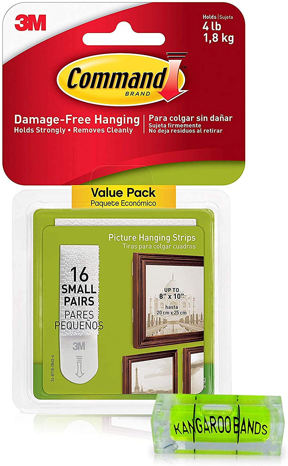 Max 71% OFF Command Picture Surprise price Hanging Kit 3m Leveler Strips 16 Damage-Free