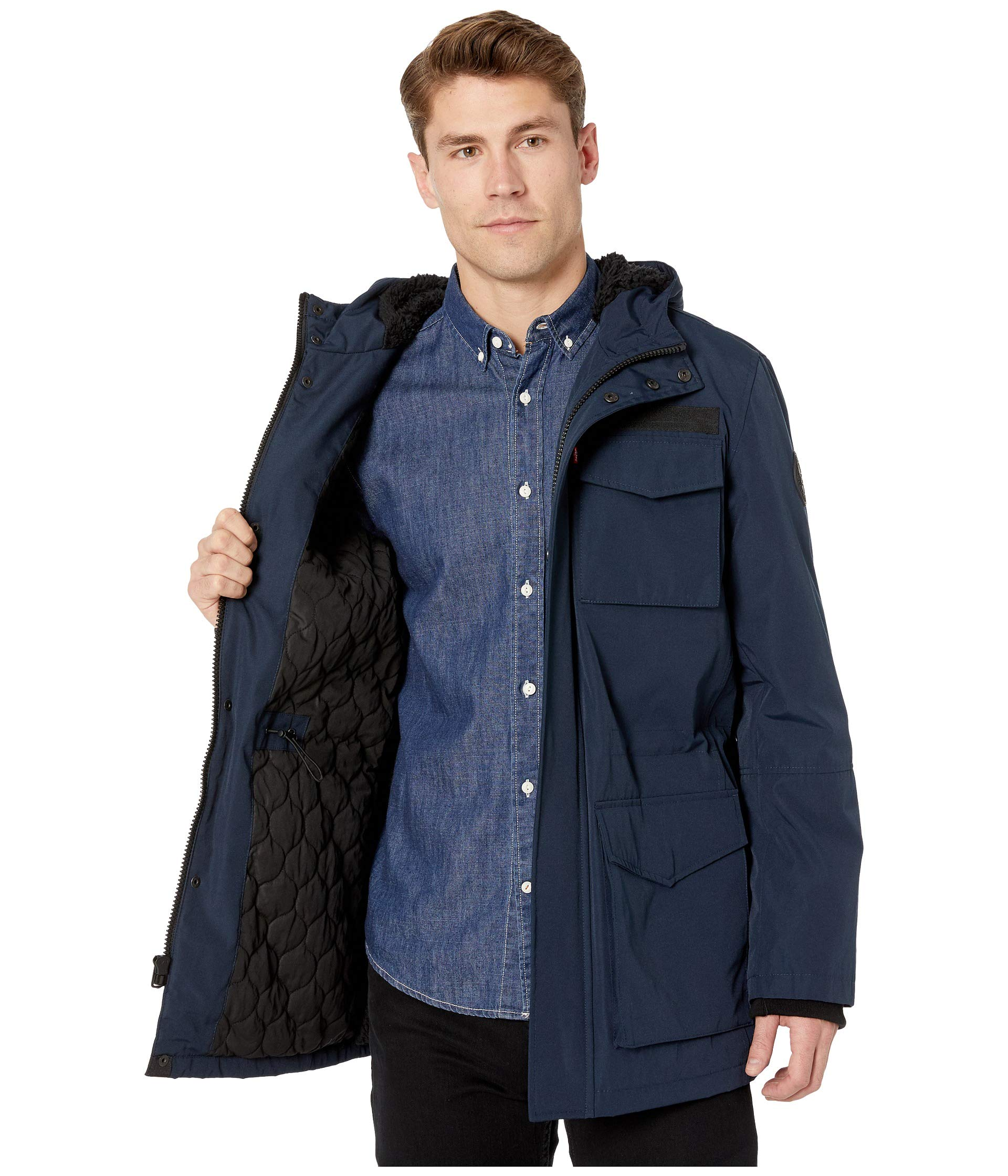 Parka Long pocket Navy Levi's® Four Hooded TIPnwx