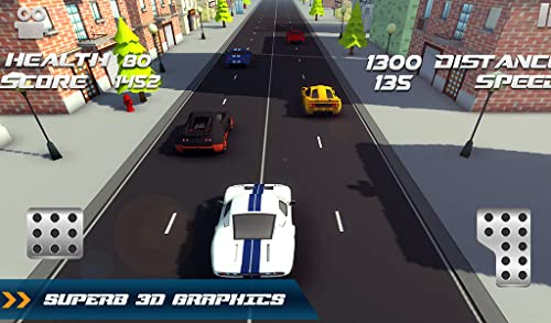 『Traffic Toon Racer : Hi Speed Real Escape Racing Rivals in City Road Pro』の5枚目の画像