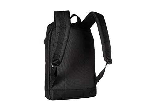 Herschel negro de sintético cuero Retreat negro medio volumen de Supply Co rYvawqrU
